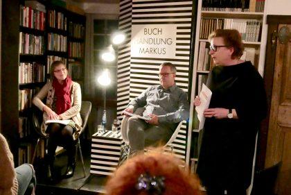 Lesung im Rahmen der Lesestadt Gütersloh in der Buchhandlung Markus (11/2018)