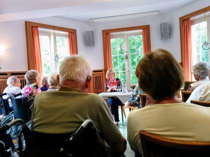 Lesung im Altenwohnhaus St. Anna in Haltern am See im August 2018.