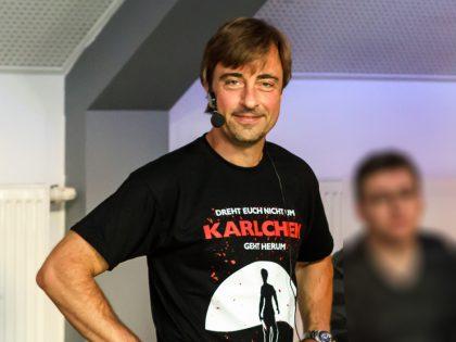 Thomas Matiszik freut sich auf die Buchpremiere (Lindenbrauerei in Unna 09/2016).