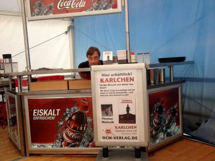 """Selbst das Zeltfestival Ruhr ist vor """"Karlchen"""" nicht sicher ;-) (Sommer 2016)"""