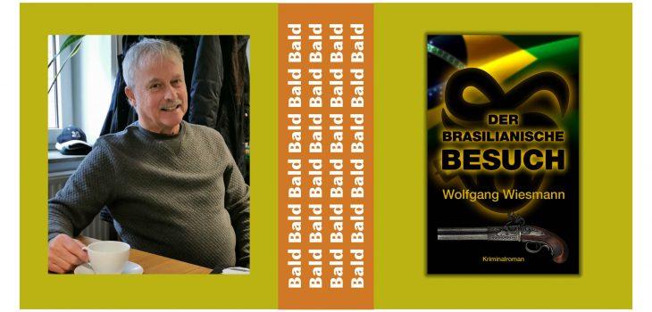 """Wolfgang Wiesmann ist zufrieden mit dem Cover seines neuen Krimis """"Der Brasilianische Besuch"""""""