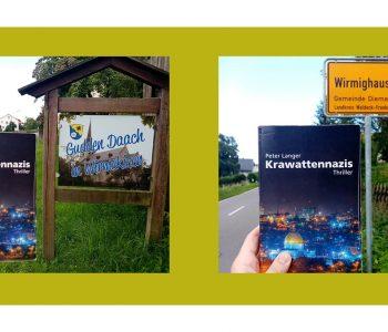 Das Buch Krawattennazis am Ortseingang von Wirmighausen