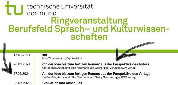Plakat der Ringveranstaltung an der TU Dortmund