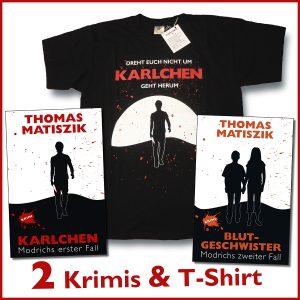 Karlchen-T-Shirt und zwei Krimis